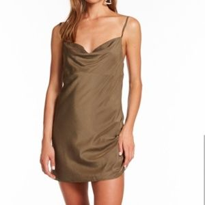 KHAKI MINI DRESS